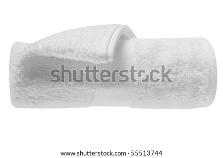 White towel. Isolated - stock photo