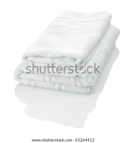 white towels - stock photo