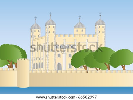white tower of London - stock photo