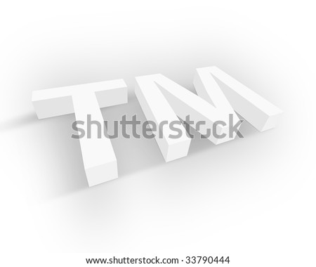 White Trademark symbol - stock photo