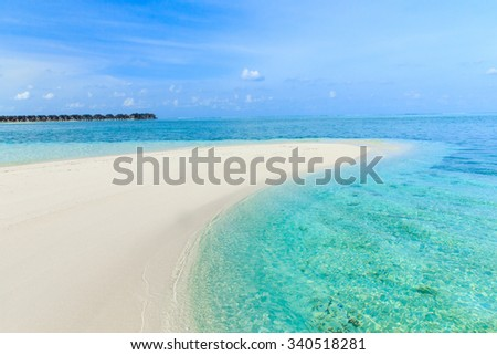 White tropical beach in Maldives  - stock photo