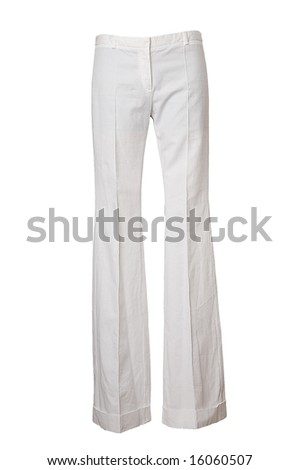 white trousers - stock photo