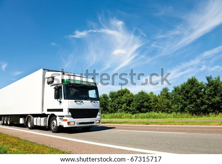 white truck on highway