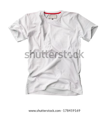 White tshirt isolated, blank designed in modern style - stock photo