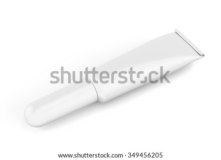White tube isolated on white background. Tube for your design. 3d rendering.