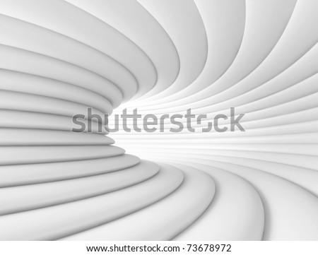 White Tunnel - stock photo