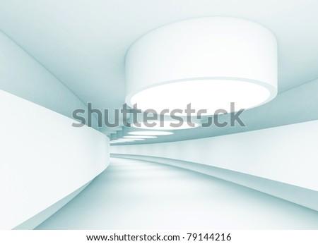 White Tunnel - stock photo