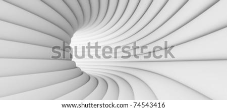 White Tunnel Background - stock photo