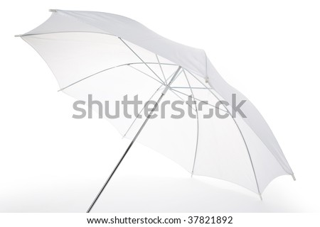 White Umbrella close up shot for background