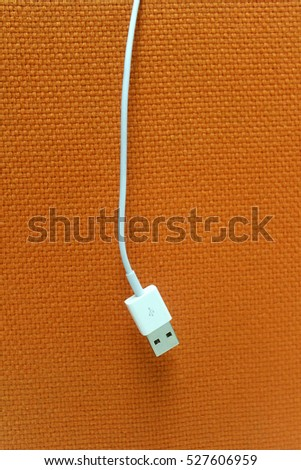 White USB Data Cable for Data Connection | Universal Serial Bus | connector | micro BM | Smart Phone, Mobile and Computer Cable