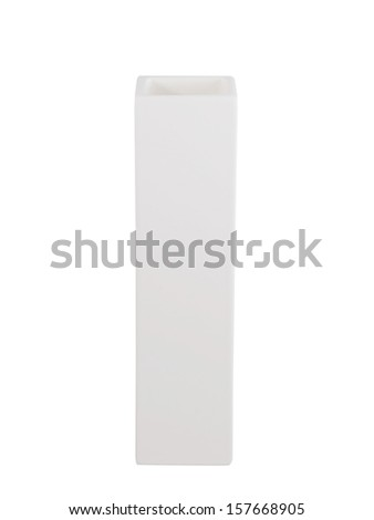 White vase isolated on white ,clipping path