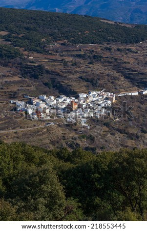 White village of Bayarcal, municipality of Almeria province, in Andalusia, Spain.