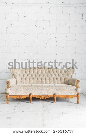 White Vintage classical style Sofa bed - stock photo