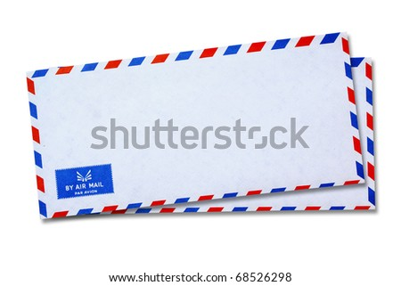 White Vintage Envelope - stock photo