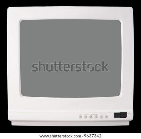 White Vintage TV set - stock photo