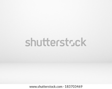 white wall and concrete floor - stock photo