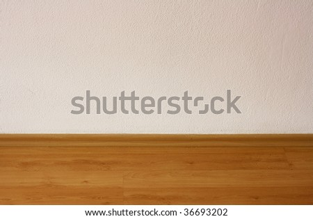 White wall and floor - stock photo