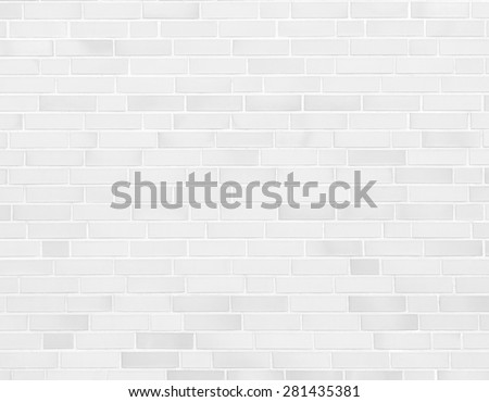 white wall, brick wall texture background - stock photo