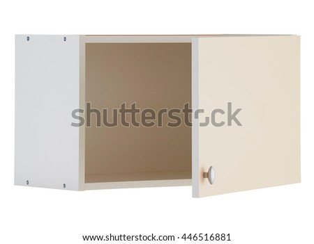 White wall cabinet isolated on white background. Include clipping path