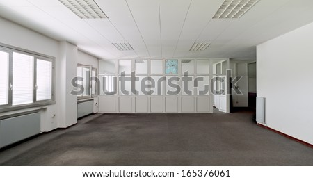 White wall empty office  - stock photo