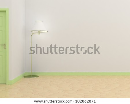 white wall for a background - stock photo