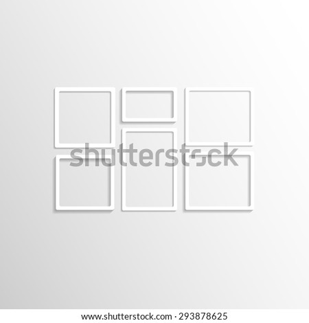 White Wall Frames white wall frames collage vector mockup stock vector 293878622