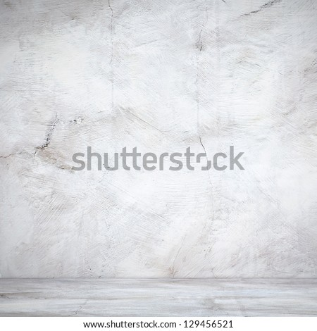 White wall in industrial building - stock photo
