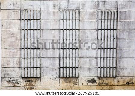 white wall texture, grunge background - stock photo