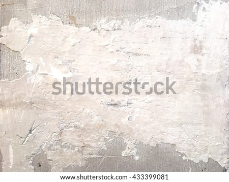 White wall with grunge, abstract texture background.