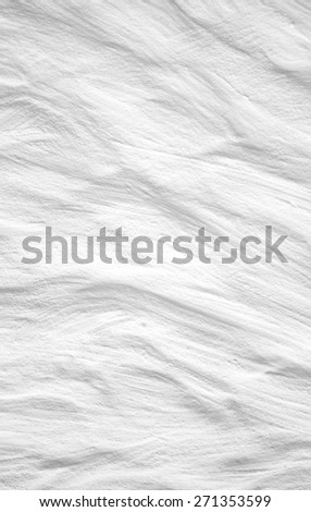 White wall with plaster abstract, vertical, close up - stock photo