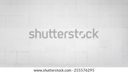 White wall with tiling. Background photo texture - stock photo