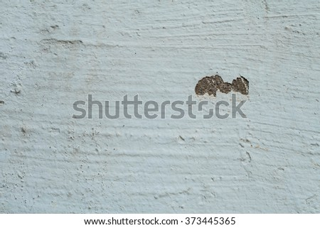 White walls are textured black dirt stains - stock photo