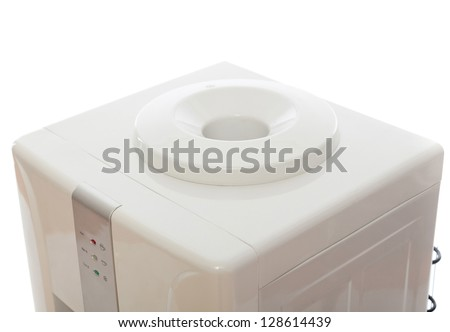 White water cooler input,  for concepts such as natural resources, energy, refreshment. Close up. - stock photo