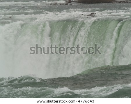 white water falls niagara - stock photo