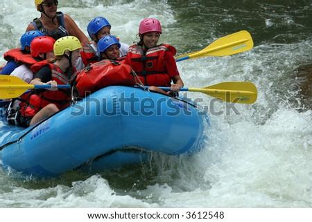 White Water Rafting 3 - stock photo