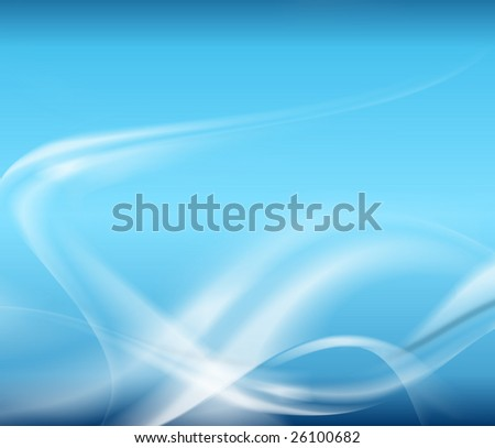 white waves on blue background