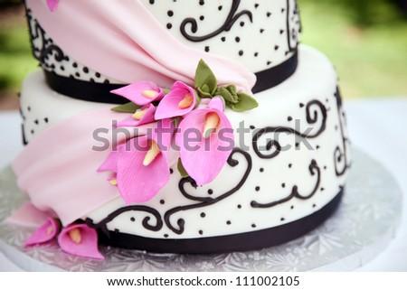 White Wedding Cake - stock photo