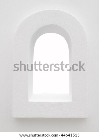 White Window Frame - stock photo