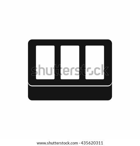 White window frame icon, simple style - stock photo
