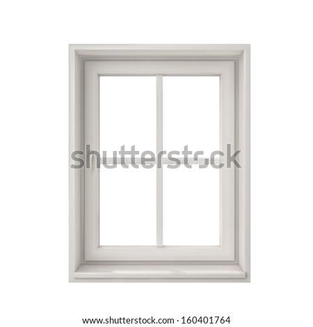White Window Frame Isolated On White Stock Illustration 160401764 ...