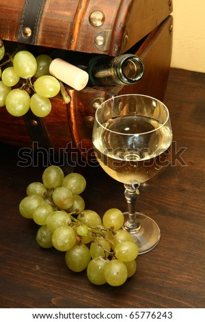 white wine - stock photo