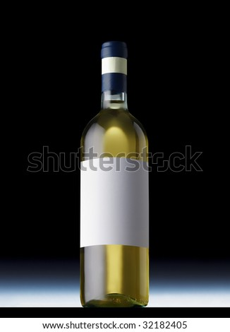 White wine bottle - stock photo