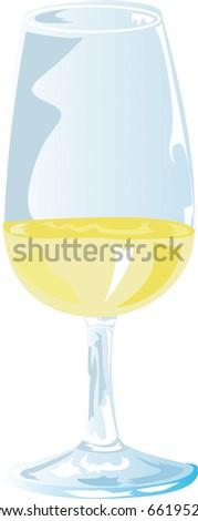 White Wine Tasting - stock photo