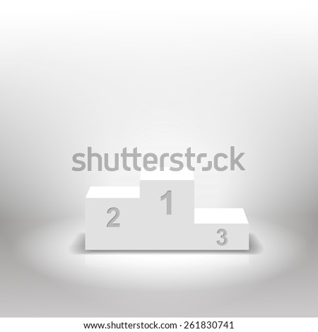 White winners podium for business concepts   illustration - stock photo