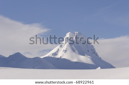 White Winter World Iceland - stock photo