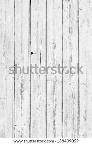 white wood door - stock photo