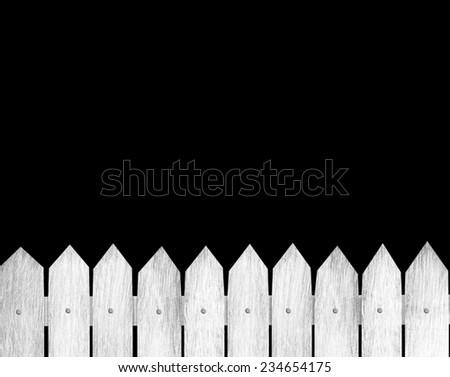 white wood fence - stock photo