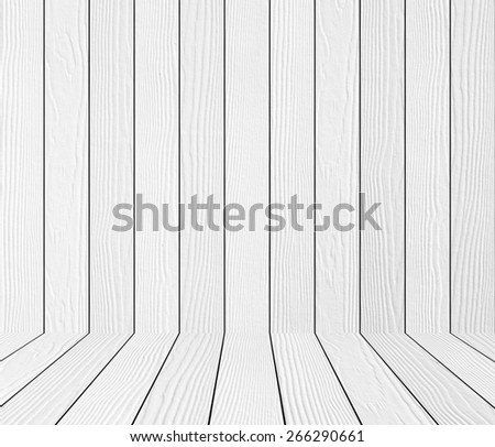white wood panel texture background, unfocused - stock photo