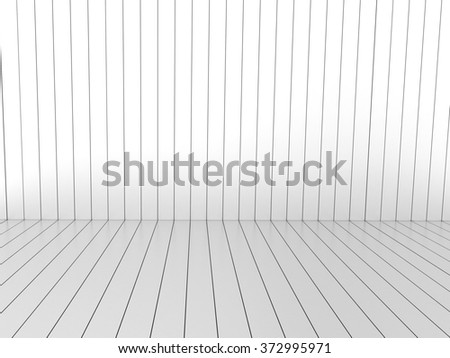 White wood stripe backdrop. - stock photo