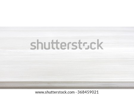 White wood table top for  background - can be used for display or montage your products - stock photo